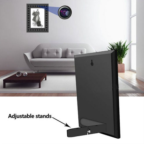 720P HD Фоторамкаи Wi-Fi Камераҳои пинҳонӣ бо PIR Motion Detection - 4