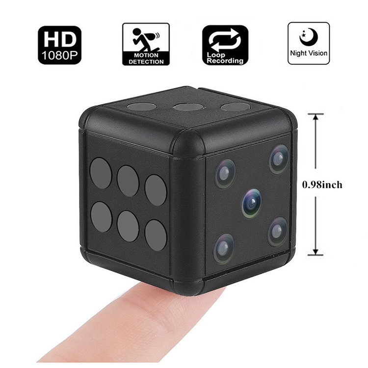 Dice Mini Camera, Motion Detection, 1080P 30fps, Nightvision, SD Card Max 32G - 11
