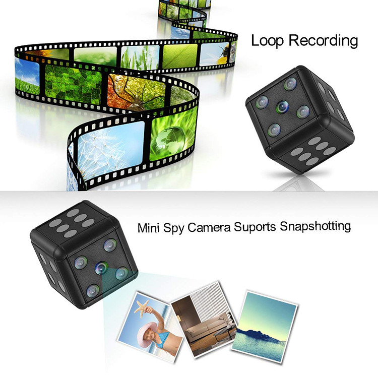 Dice Mini Camera, Motion Detection, 1080P 30fps, Nightvision, SD Card Max 32G - 13