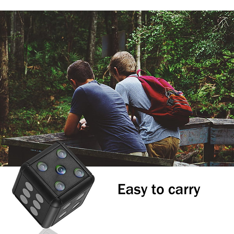 Dice Mini Camera, Motion Detection, 1080P 30fps, Nightvision, SD Card Max 32G - 15