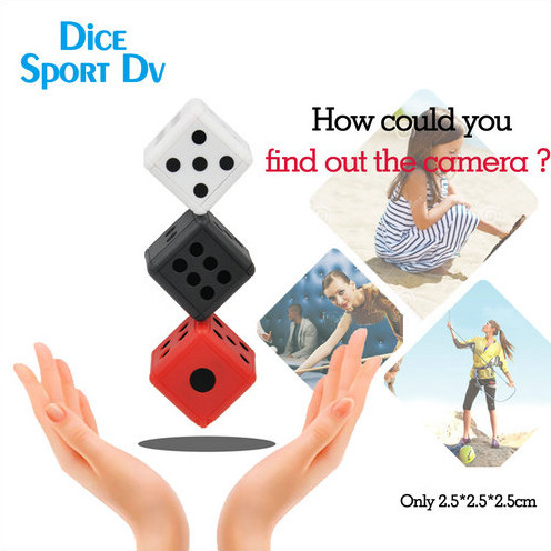 Dice Mini Camera, Motion Detection, 1080P 30fps, Nightvision, SD Card Max 32G - 3