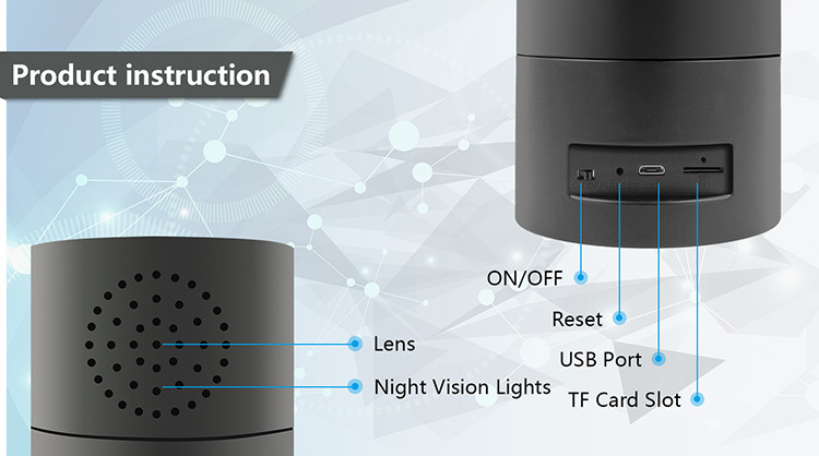 HD 1080P Cylinder Security Wi-Fi Camera - 5