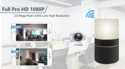 HD 1080P Desk Lamp Security Camera Wi-Fi - 1