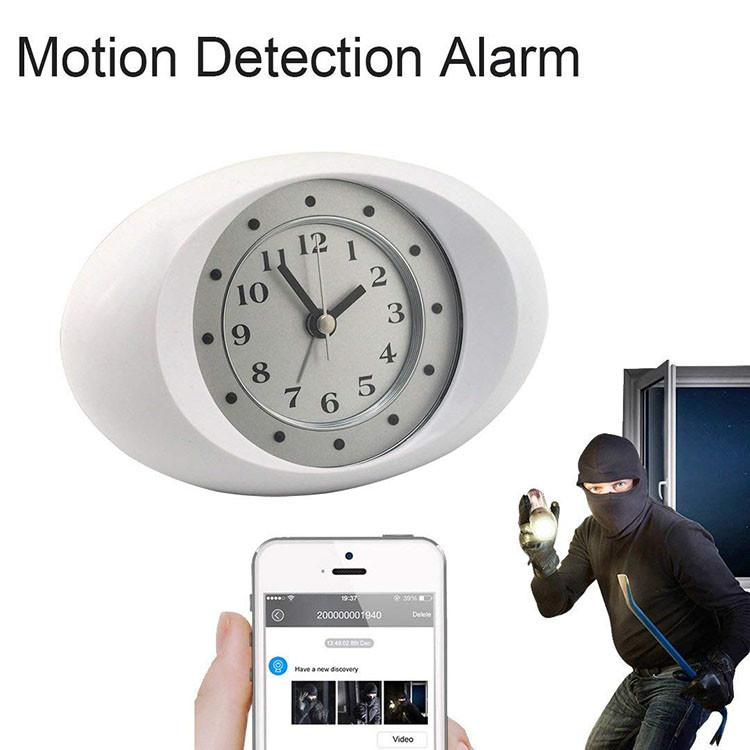 Hidden Spy Camera 1080P HD Wireless Wifi IP Camera White Clock - 5