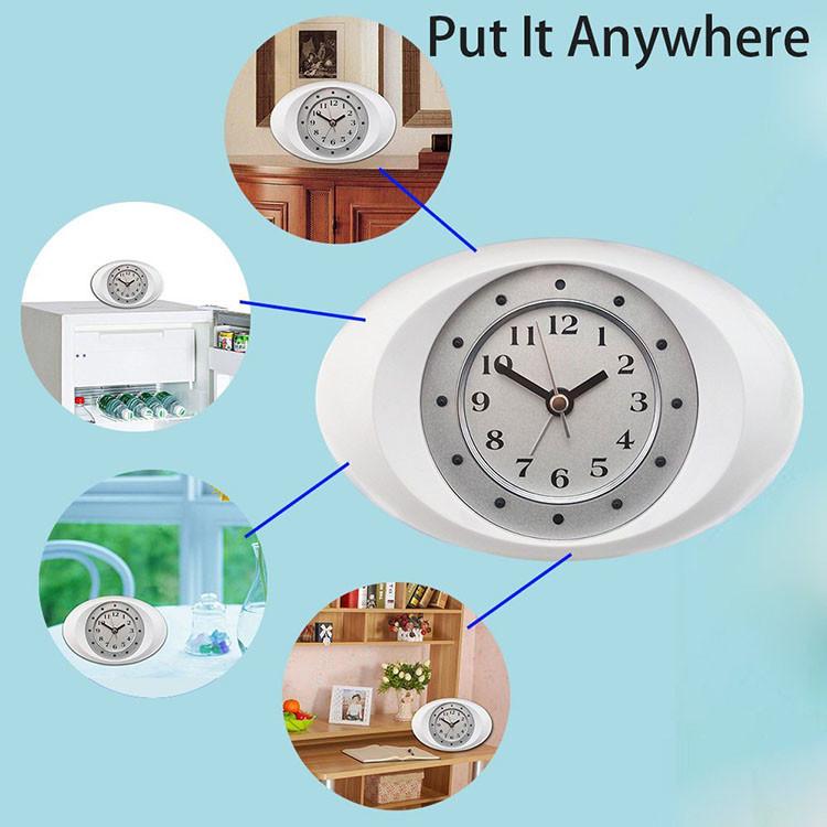 Hidden Spy Ikhamera 1080P HD I-Wifi ye-IP Ikhamera ye-White White Clock-7