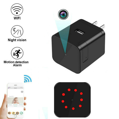 Super Nightvision WIFI Charger Camera, 1080P, 120 degree Camera, Super Nightvision - 1