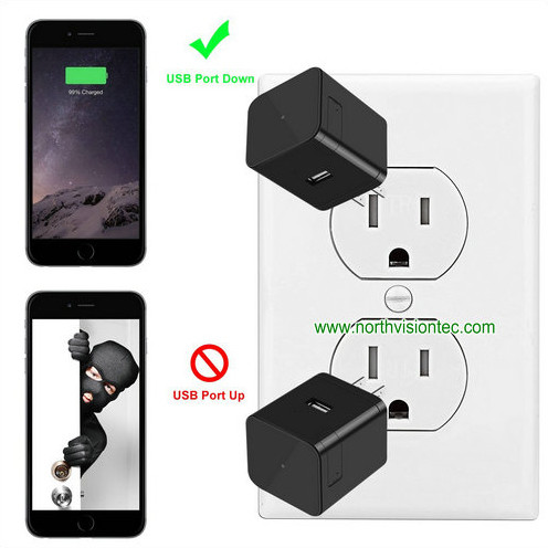 Super Nightvision WIFI Charger Camera, 1080P, 120 degree Camera, Super Nightvision - 7