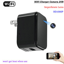 WIFI Charger Camera, HD1080P, 120 Degree imperforate lens (SPY198)