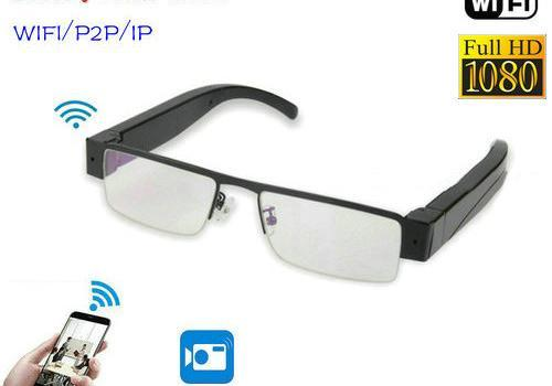 WIFI Glasses Camera, HD 1080P, WIFI, P2P, IP - 1