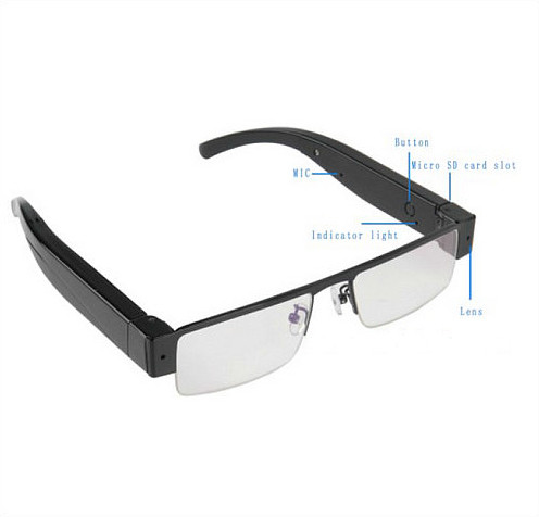 WIFI Glasses Camera, HD 1080P, WIFI, P2P, IP - 6