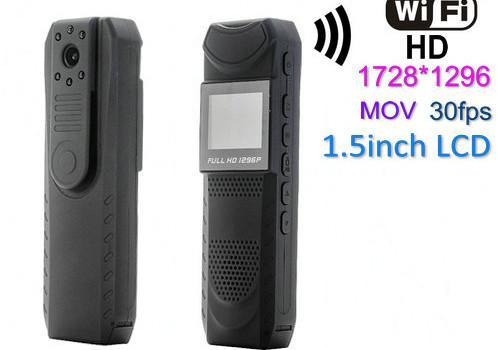WIFI Law Enforcement Camera, Video 1728x1296 30fps,H.264,940NM Nightvision - 1