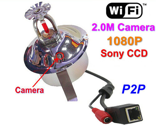 WIFI, IP Fire Sprinkler Camera, 2.0MP Camera, POE, Աուդիո, Sony CCD, 1080P - 1