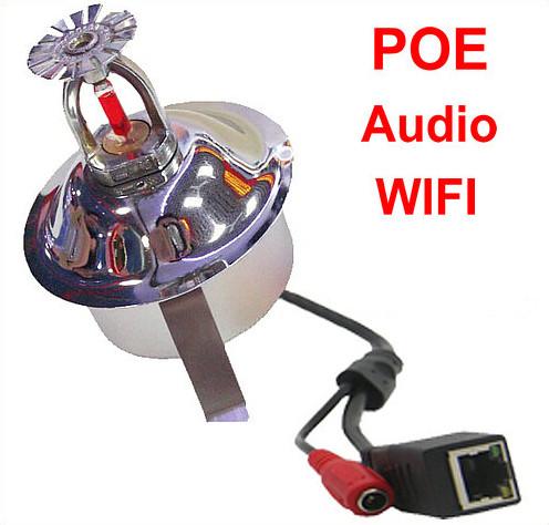 WIFI,IP Fire Sprinkler Camera, 2.0MP Camera, POE, Audio, Sony CCD,1080P - 6