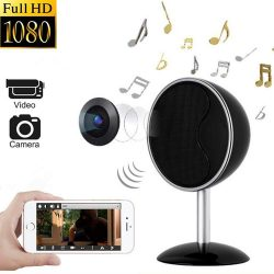 1080P WIFI Bluetooth Speakers Kamera Spy fshehur - 1