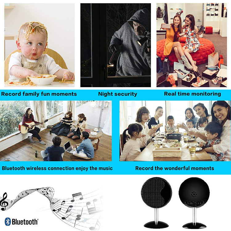 1080P WIFI Bluetooth Speakers Hidden Spy Camera - 8