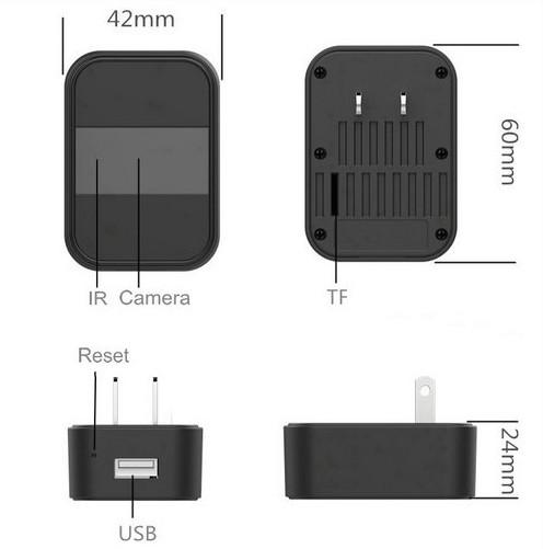 Ceamara Charger WIFI 4K, Nightvision, HD4K, 2K, 1080P, SD Max 64G - 5