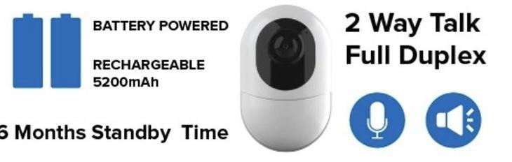 6 Months Standby Battery Powered Hidden Spy Camera Wireless IP Camera - 1