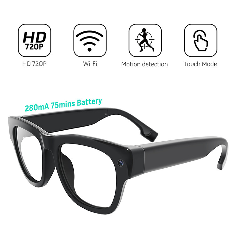 Eyeglasses WiFi IP Security Camera - 3