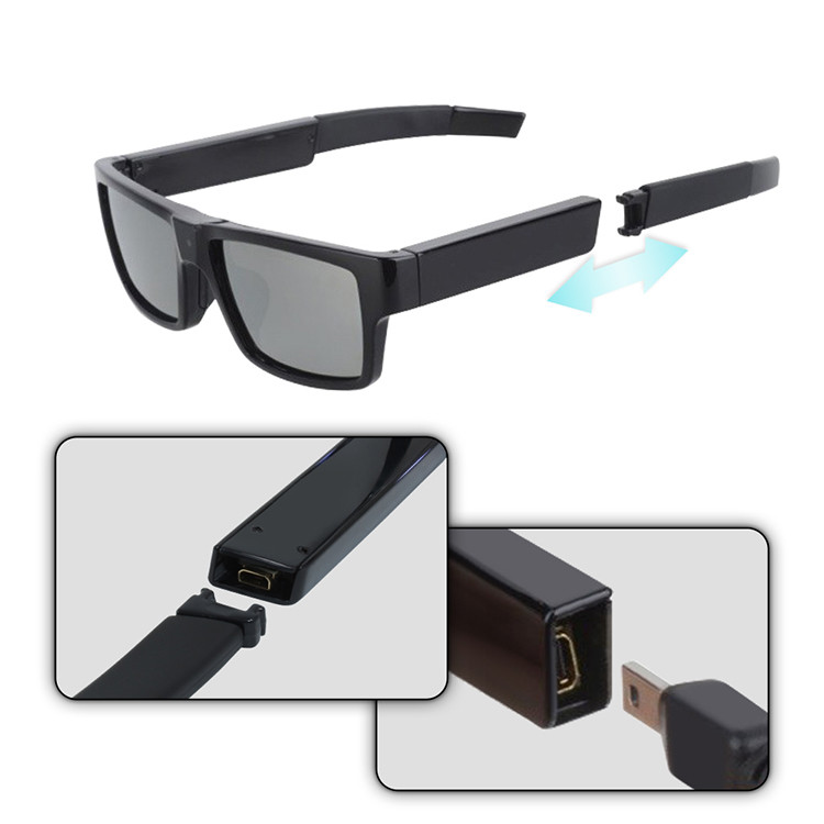 HD1080P عینک دوربین مخفی - 5