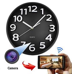 Home Decoration Wifi Wall Hidden Spy Camera Clock (SPY224) - S $ 328