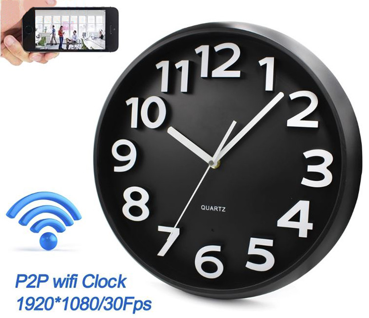 Home Decoration Wifi Wall Hidden Spy Camera Clock - 4