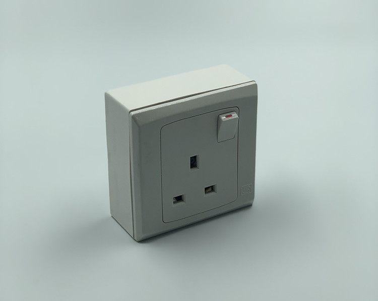 Single Gang WIFI Wall Moulded Socket Outlet SPY Hidden Camera - 2