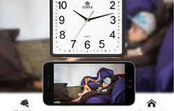 Square Wall Clock Spy Hidden Camera - 1 250px