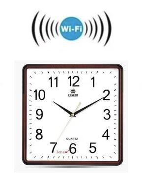 Square Wall Clock Spy Hidden Camera - 3