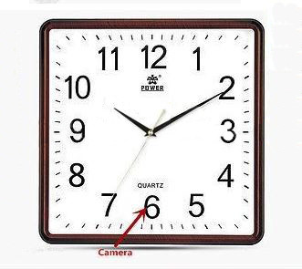 Square Wall Clock Spy Hidden Camera - 4