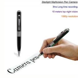 Starlight Night Vision Pen Camera, Super Nightvision, HD1080P, TF Max 128G-1
