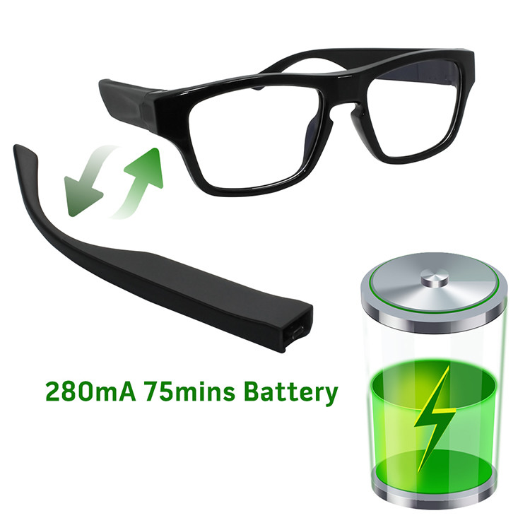 Touch Eyeglasses P2P Security Camera - 4