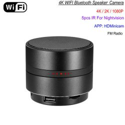 WIFI Network Bluetooth Speaker Camera, HD 4K Video, Max 128G SD Card-1