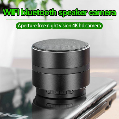 WIFI Network Bluetooth Speaker Camera, HD 4K Video, Max 128G SD Card - 2