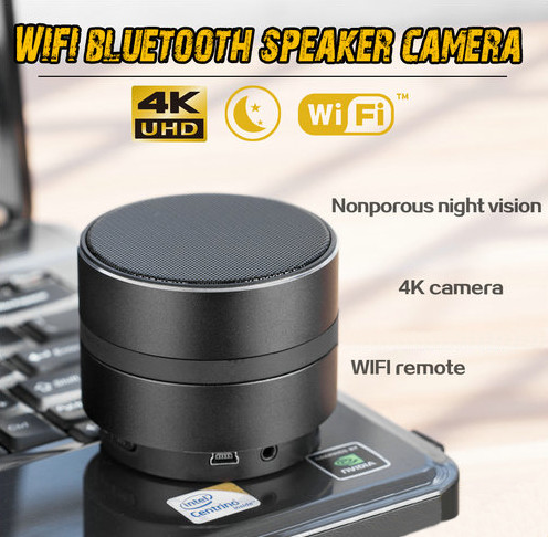 WIFI Network Bluetooth Speaker Camera, HD 4K Video, Max 128G SD Card - 3