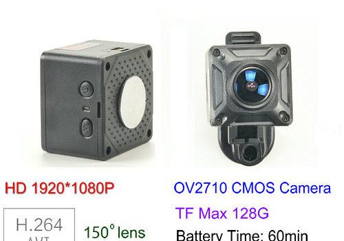 150 Degree Mini Camera, HD1080P, 30fps, SD Max 128g, Battery 60min - 1