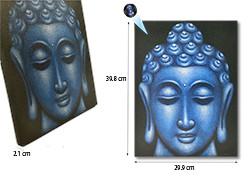 Blue Buddha Face Oil Paint Spy Hidden Camera (SPY232A)