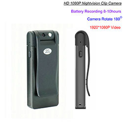 HD Clip Camera, Nightvision, 8-10hours Recording (SPY234)