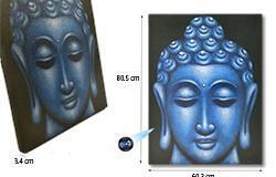 Large Blue Buddha Face Oil Paint Spy Hidden Camera - 1 250px
