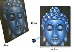 Large Blue Buddha Face Oil Paint Spy Hidden Camera (SPY232L)