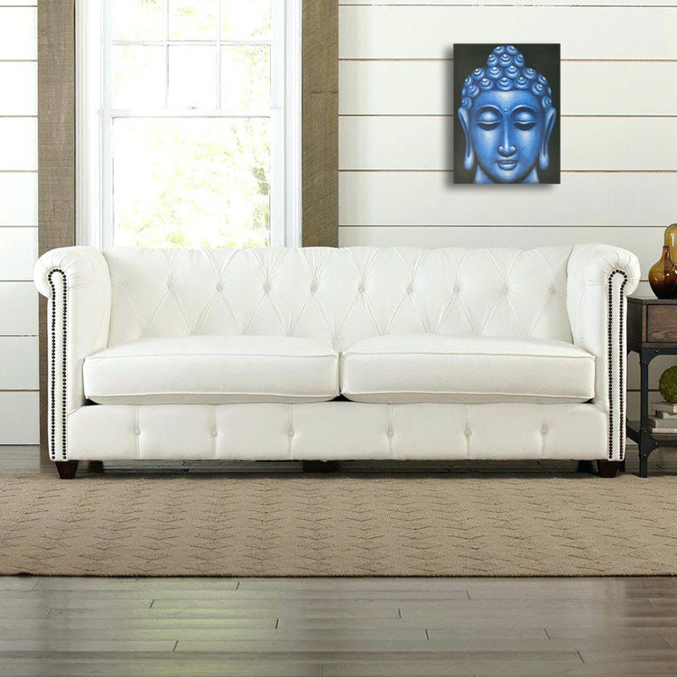 Large Blue Buddha Face Oil Paint Spy Hidden Camera - sofa1