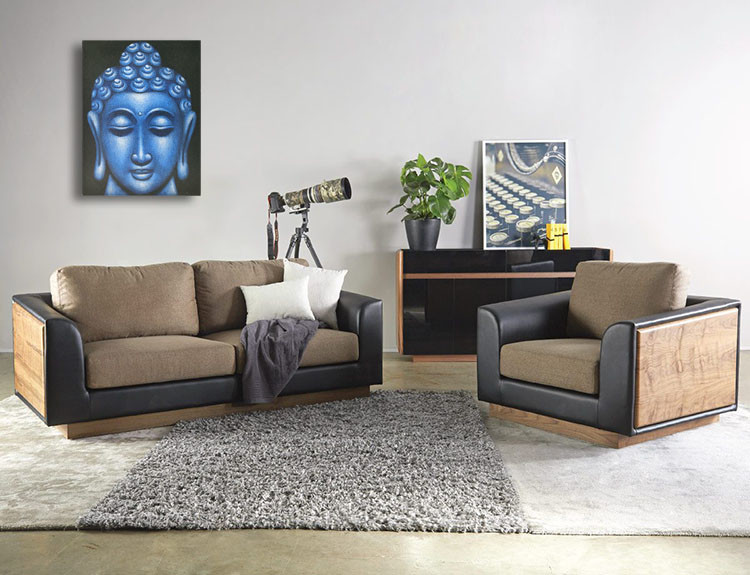 Large Blue Buddha Face Oil Paint Spy Hidden Camera - sofa2
