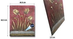 SPY232K - Gold Flower Oil Paint Spy Hidden Camera - 250px