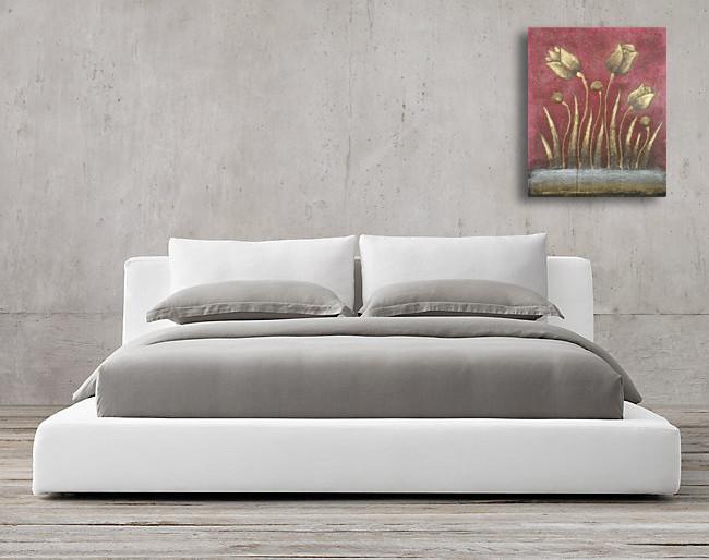 SPY232K - Gold Flower Oil Paint Spy Hidden Camera - sofa1