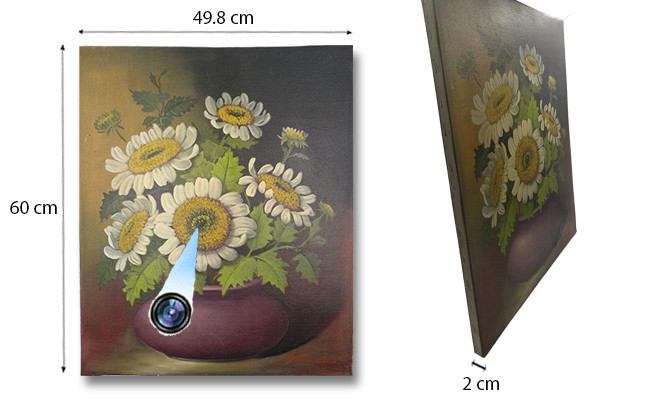 Sunflower Oil Paint Spy Hidden Camera - 690px