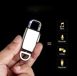 Mini Keychain Voice Recorder (SPY239)