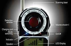 SPY-kamera-ilmaisin - signaalilentti-ilmaisin, alue 1-650 - 1 250px