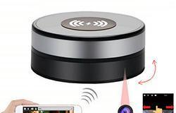 Wireless Charger WiFi Nakatagong SPY Camera, 180 Deg Rotation Lens - 1 250px