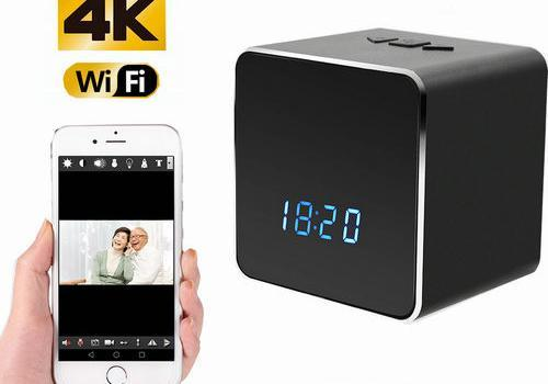 Hidden Spy Camera WIFI Bluetooth Speaker Clock, Nightvision - 1