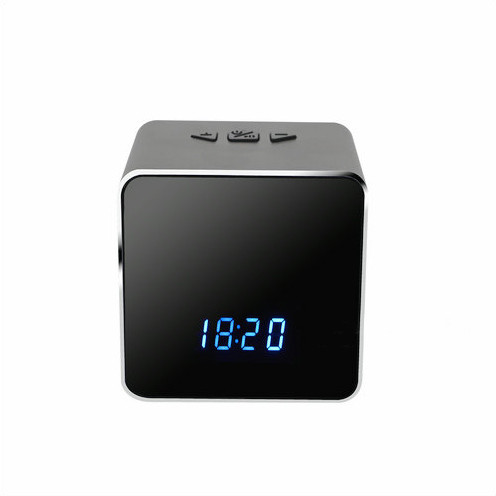Efihliweyo I-Spy Camera Ikhamera yeWIFI I-Bluetooth Speaker Clock, i-Nightvision-4