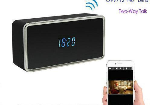 Rectangular WIFI Clock Camera, 128G - 1